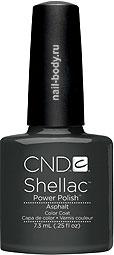 CND Shellac Asphalt - Тёмно серый матовый лак - мокрый асфальт. РАСПРОДАЖА
