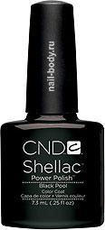 CND Shellac Black Pool - Чёрный, матовый, классический.