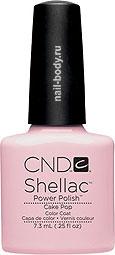 CND Shellac Cake Pop - Нежный молочно-розовый матовый, эмалевый, плотный.