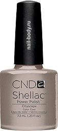 CND Shellac Cityscape - Серый беж, молочный, матовый.