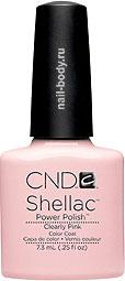 CND Shellac Clearly Pink - Прозрачный розовый.