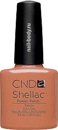 CND Shellac Cocoa - Какао матовый, тёплый оттенок, плотный.