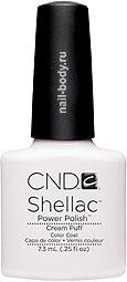 CND Shellac Cream Puff - Белый матовый лак.