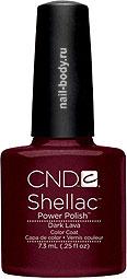 CND Shellac Dark Lava - Фиолетовое бордо.