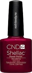 CND Shellac Decadence - Вишневый матовый цвет.