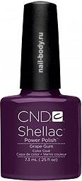 CND Shellac Grape Gum - Фиолетовый классический с перламутром.