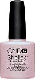 CND Shellac Grapefruit Sparkle - Мерцающий светло-розовый с микроблеском. Очень нежный