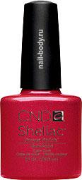 CND Shellac Hollywood - Классический красный,матовый сзолотистым микроблеском. РАСПРОДАЖА