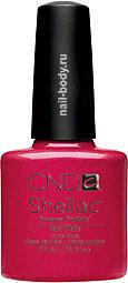 CND Shellac Hot Chilis - Красно-малиновый перламутровый, насыщенный, яркий цвет.