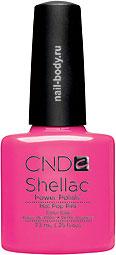 CND Shellac Hot Pop Pink - Яркая фуксия, матовый лак.