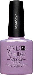 CND Shellac Lilac Longing - Нежно-лиловый,эмалевый, без блесток и перламутра.