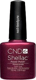 CND Shellac Masquerade - Глубокое тёмное бордо.