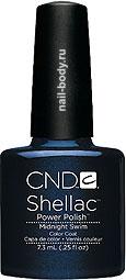 CND Shellac Midnight Swim - Тёмно-синий с микроблеском.