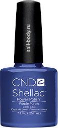 CND Shellac Purple Purple - Синий с микроблеском и перламутром лак.