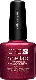 CND Shellac Red Baroness - Красное классическое бордо с перламутром. Темный глубокий цвет.