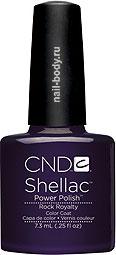 CND Shellac Rock Royalty - тёмный глубокий фиолетовый, матовый.