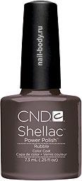 CND Shellac Rubble - Серо-коричневый, матовый.