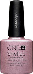 CND Shellac Strawberry Smoothie - светло-розовый, жемчужный с перламутром.