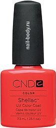 CND Shellac Tropix - Коралловый матовый цвет.