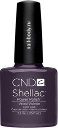 CND Shellac Vexed Violette Сиреневый с перламутром и микроблеском.