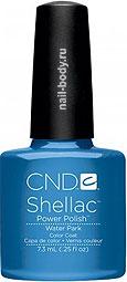 CND Shellac Water Park - синий с перламутром.