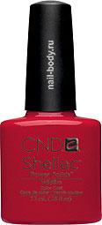 CND Shellac WildFire - Классический красный матовый цвет.